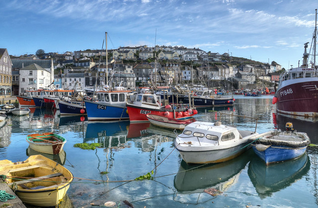 Fishing boats at Mevagissey, Cornwall