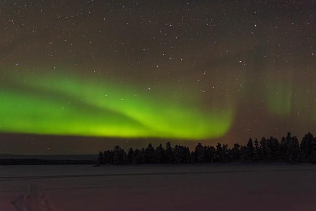 Aurora over lake Inari