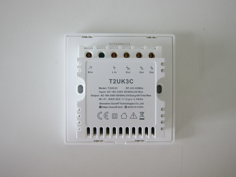 Sonoff T2UK - Back