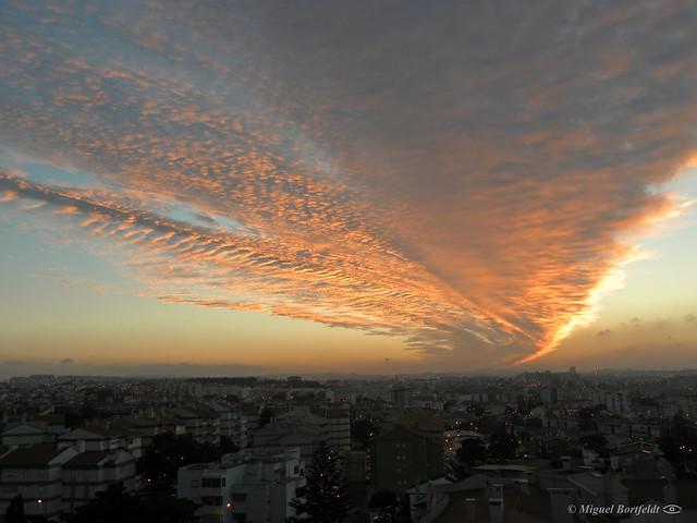 Spectacular dawn skies