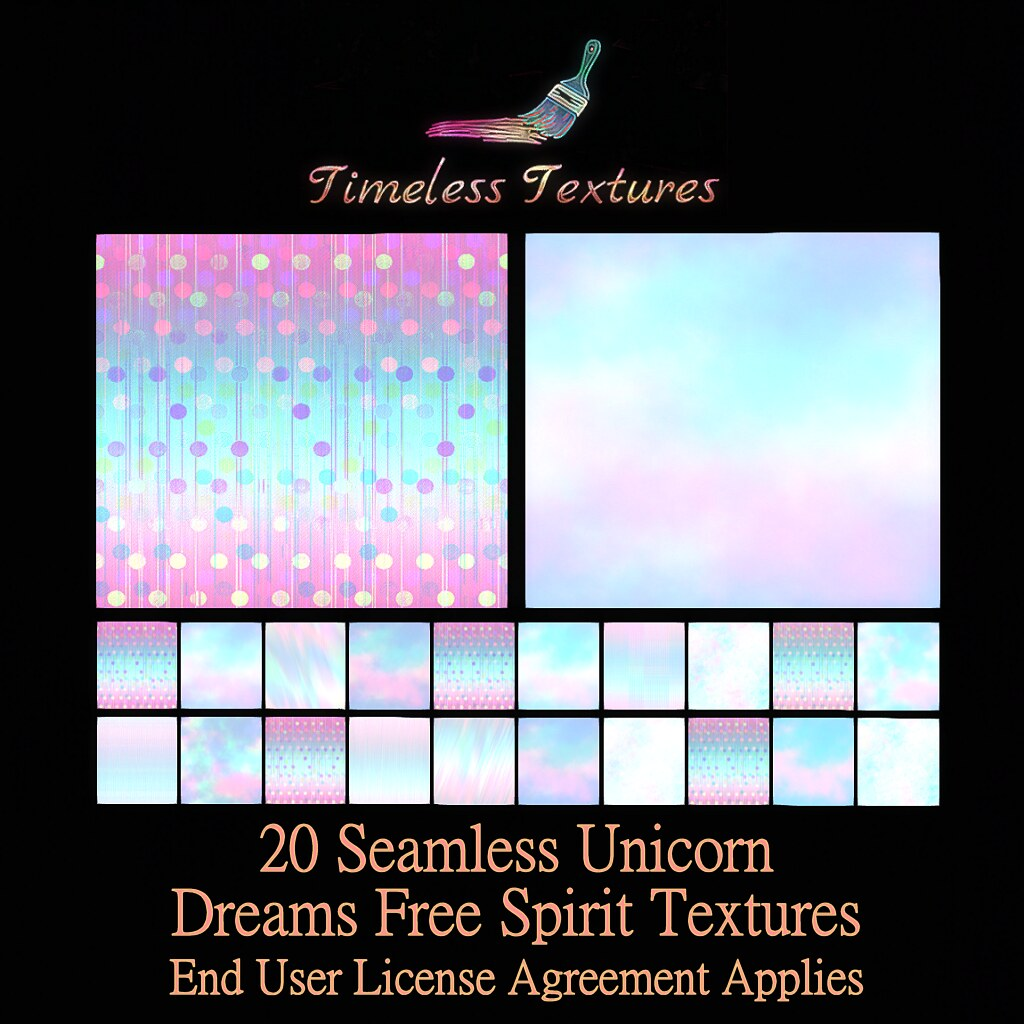 2020 Advent Gift Dec 5th – 20 Seamless Unicorn Dreams Free Spirit Timeless Textures