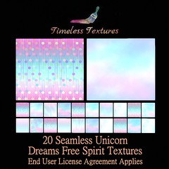 2020 Advent Gift Dec 5th - 20 Seamless Unicorn Dreams Free Spirit Timeless Textures