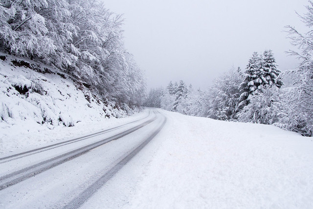 The long and snowy road...