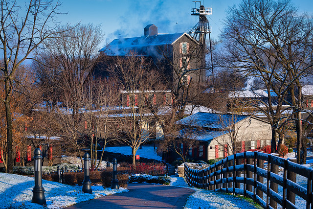 First snow at Maker's Mark