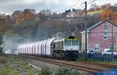 266 001 Railtraxx (ex captrain) z ligne 125 aigremont 5 decembre 2020 laurent joseph www wallorail be