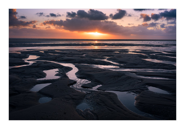 Sunset at Maasvlakte Beach
