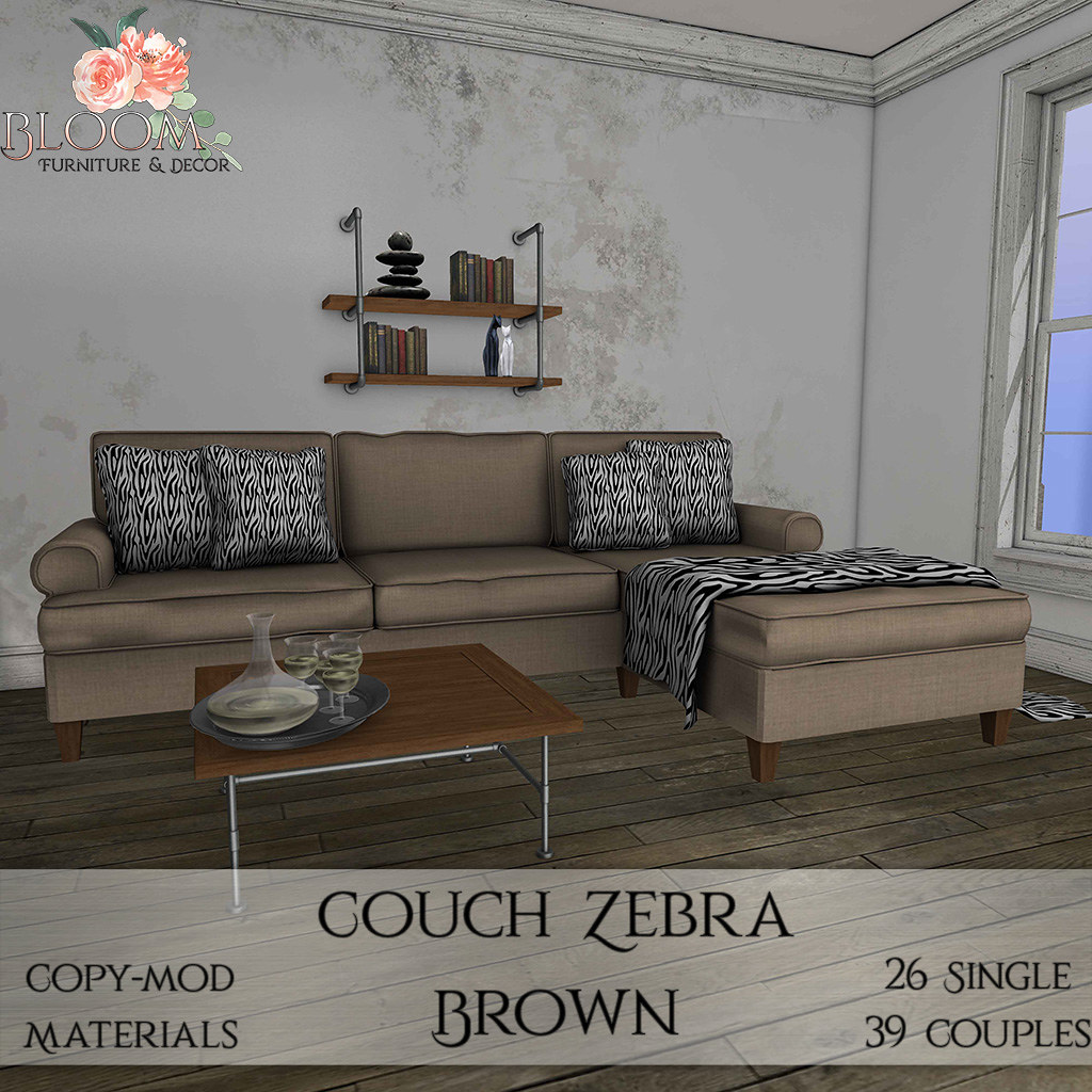 Bloom! – Couch Zebra BrownAD