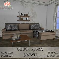 Bloom! - Couch Zebra BrownAD