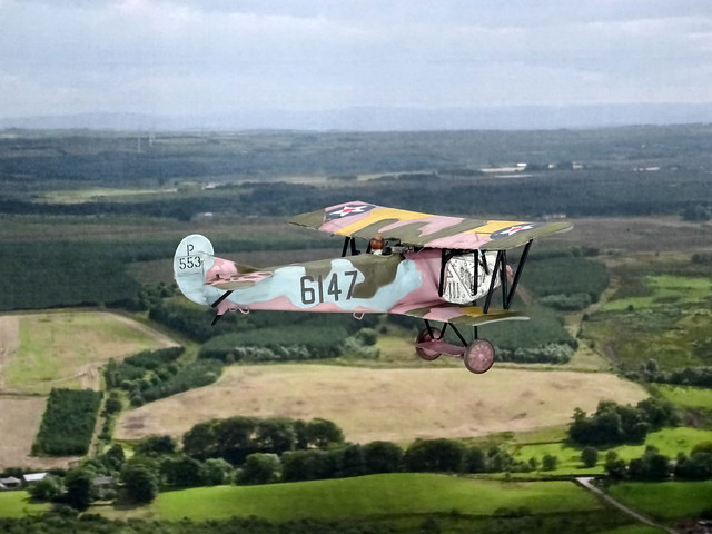 """1:72 Fokker D.VII (late production w. BMW IIIa engine); aircraft """"6147 (BuNo. P533)"""", United States Army Air Service (USAAS); US Army Command and Staff School, Chanute Field (IL, USA), ca. 1920 (What-if/ESCI kit)"""