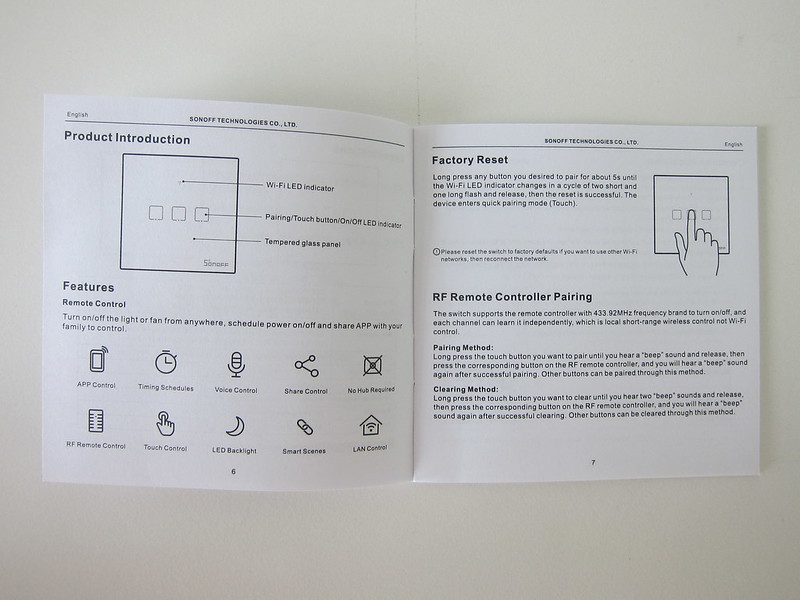 Sonoff T2UK - Manual - Introduction