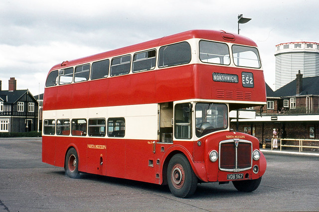 Crosville Motor Services . DAA504 VDB967 . Northwich Bus Garage , Cheshire . Monday lunchtime 03rd-April-1972 .