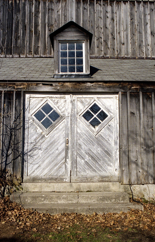 White Faded Barn Door_