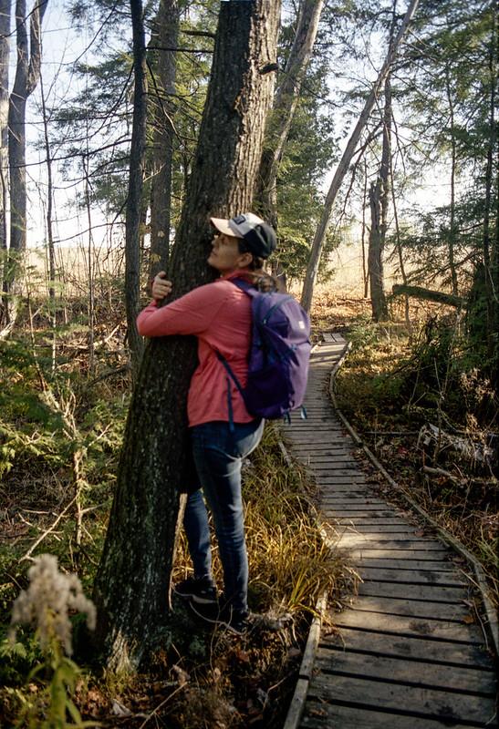 Nicole Hugging a Tree