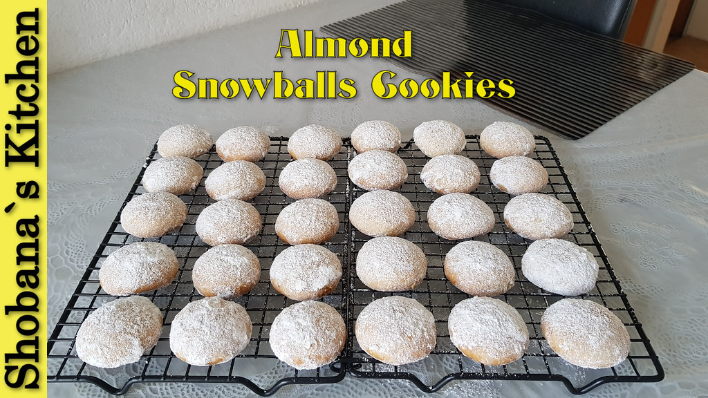 Christmas Snowballs Cookies (without egg) By Shobana`s Kitchen