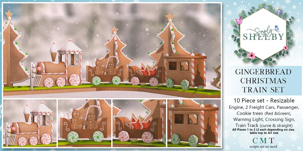 Simply Shelby Gingerbread Christmas Train