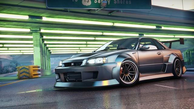 Nissan Skyline R34 GTR l GTA V