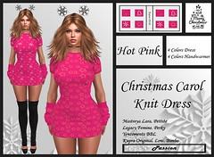 Passion-Christmas-Carol-Knit-Dress-Hot Pink