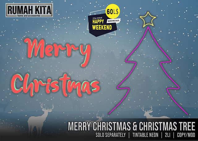 Rumah Kita - Neon Merry Christmas & Christmas Tree
