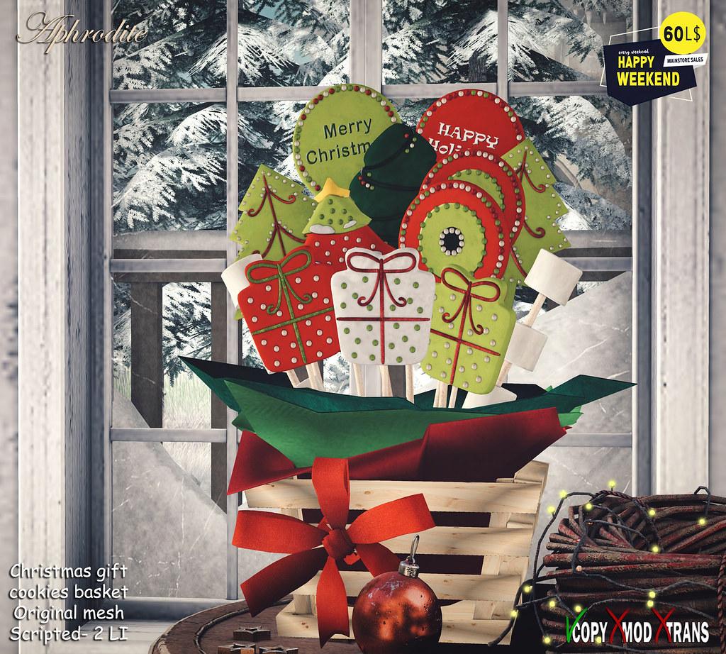 Aphrodite gift christmas cookies basket