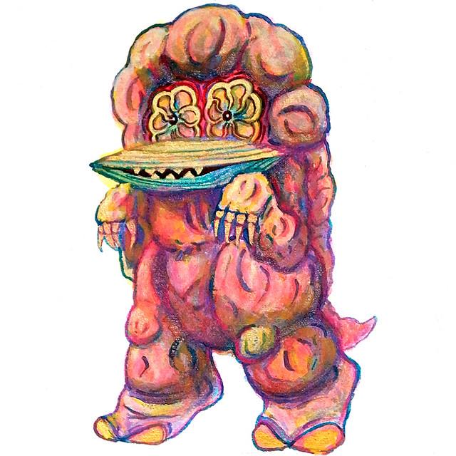Kaiju Eating saucer