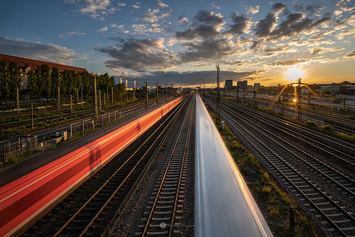 Two trains racing each other | by Andrey Angelov