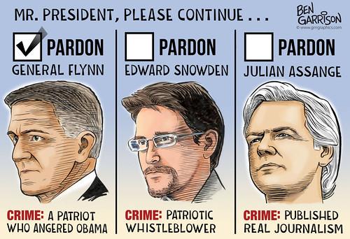Pardon Assange & Snowden