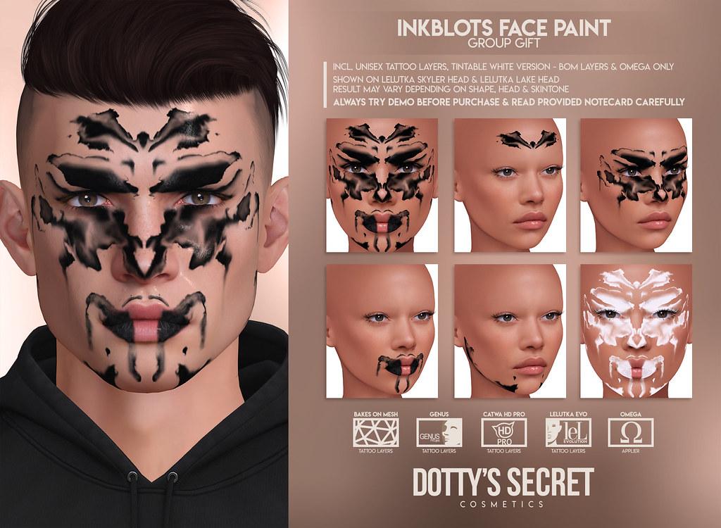 Dotty's Secret – GROUP GIFT – Inkblots Face Paint