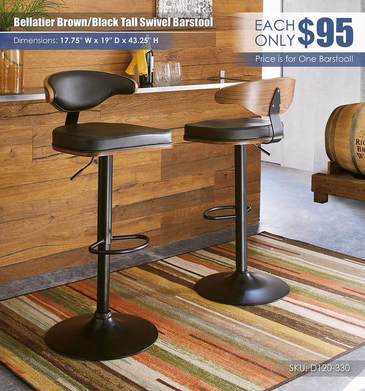 Bellatier Brown Black Tall Swivel Barstool_D120-330-FRONT-BACK