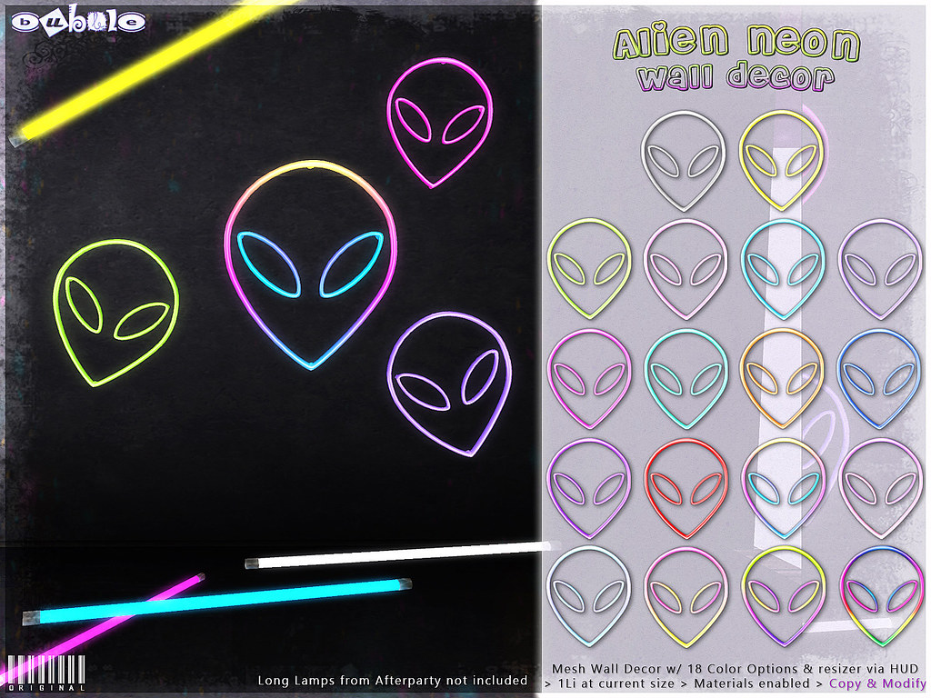 [ bubble ] Alien Neon Wall Decor