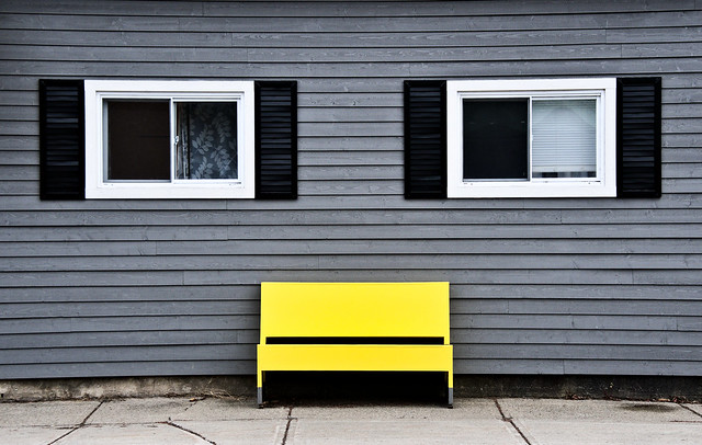 Banc jaune - Yellow bench