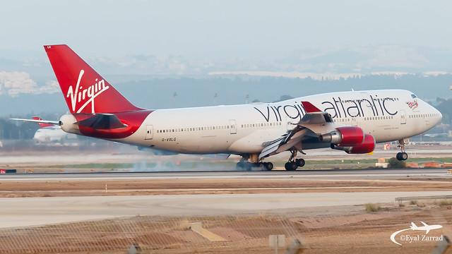 TLV - Virgin Atlantic Boeing 747-400 G-VXLG