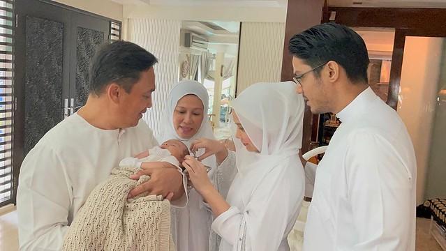 Farah Nabilah Dedah Wajah Andre Omar, Selesai Buat Majlis Cukur Jambul Anak Sulung