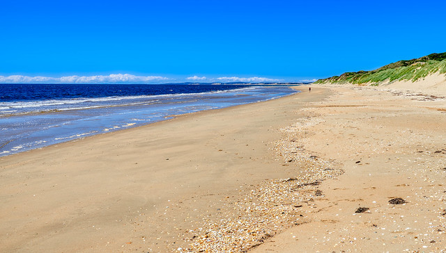 Solitary Figure on Barnbougle Beach