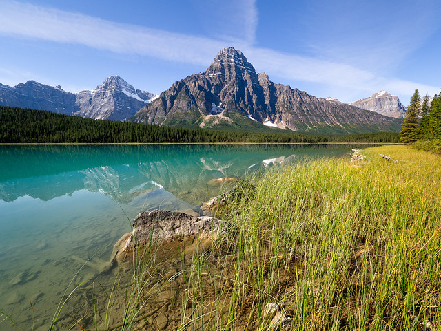 Mt. Chephren and Waterfowl Lake, Banff National Park, Alberta