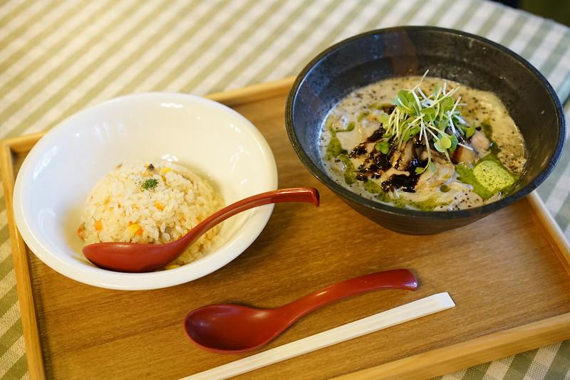 麺ビストロNAKANO_きのこポタージュ麺