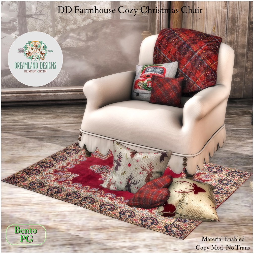 DD Farmhouse Cozy Christmas Chair-PG AD