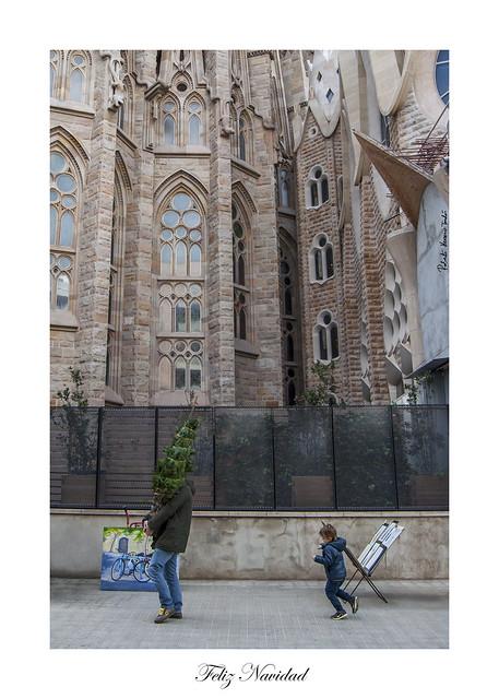 Merry Christmas - Feliz Navidad, Sagrada Familia, Barcelona