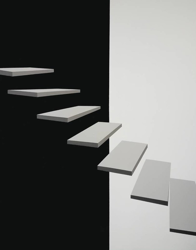 Stepenice13, akril na platnu, 140x110cm, 2020