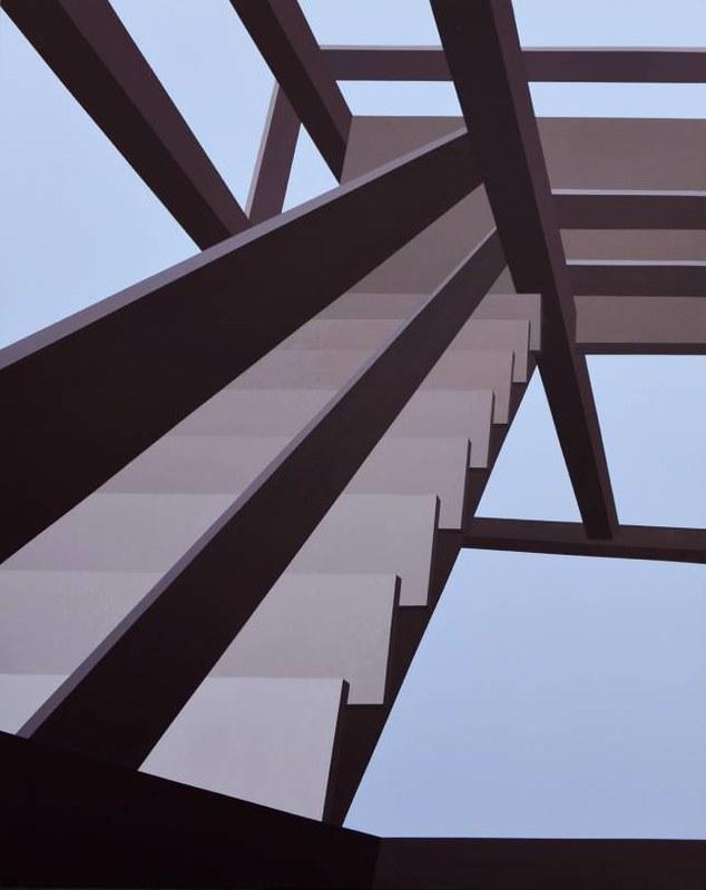Stepenice11, akril na platnu, 140x110cm, 2020
