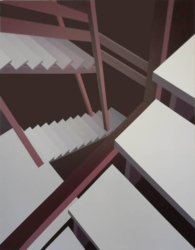 Stepenice10, akril na platnu, 140x110cm, 2020