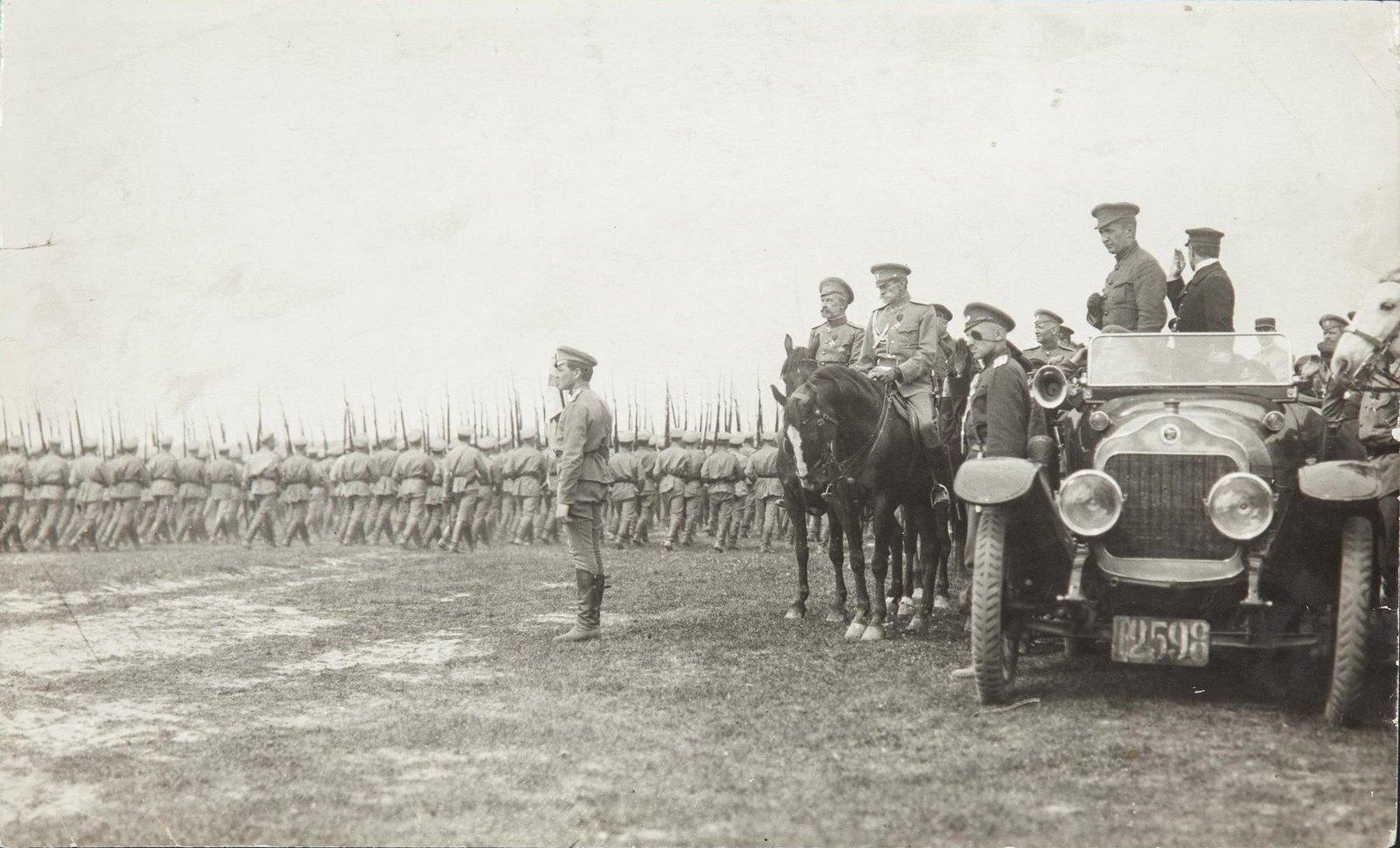 22 мая. А.Ф.Керенский на смотру на Ходынском поле