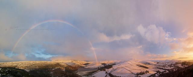 Kinder Scout Winter Rainbow