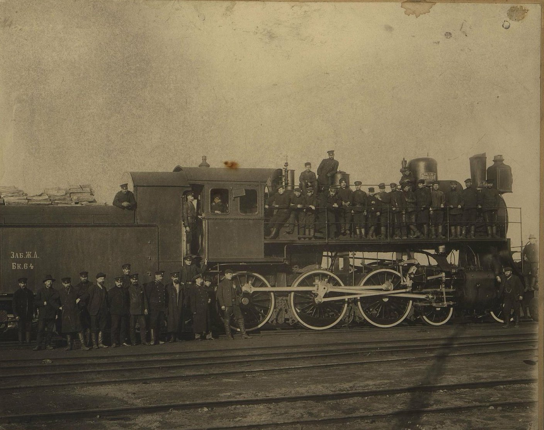 Паровоз системы «К-Шмидт» производства Коломенского завода на станции Иркутск. 1904-1905