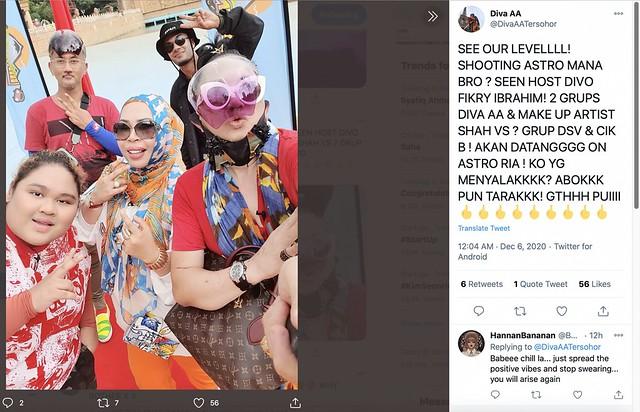 Dulu Bergaduh, Diva Aa &Amp; Dsv Jalani Penggambaran Bersama-Sama