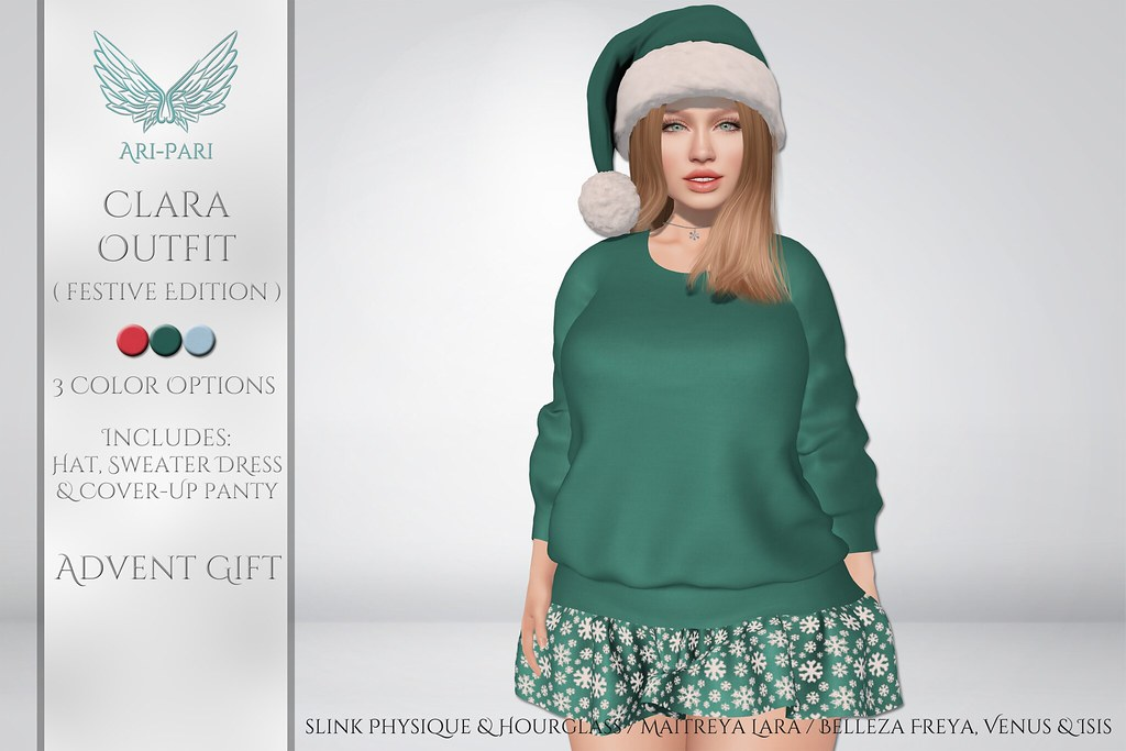 [Ari-Pari] Clara Outfit – Festive Edition
