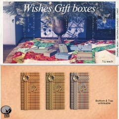 New release : Wishes Giftboxes (Copy or transfer version