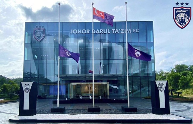 FAM & JDT Ucap Takziah Buat Syafiq, Bendera Kelab JDT di Pasang Separuh Tiang