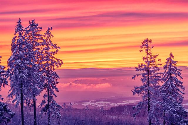 sky in orange-lilac