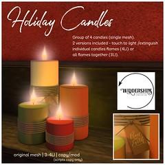 Widdershins - Holiday Candles
