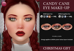 Candy Cane Eye Make-Up (Christmas Gift 2020)